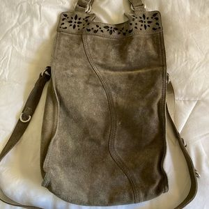 Lucky Brand Abbey Road Suede Bag